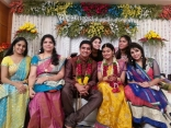 Singer Krishna Chaitanya Anchor Mrudula Engagement Images