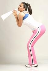 Kajal Agarwal Rare PhotoShoot in White and Pink dress