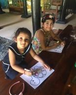Mahesh Babu's Daughter Sitara Ghattamaneni Painting at Painting Classes her Friends Pics New Latest Photos