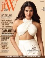 Samantha Hot Photo Shoot For JFW White Dress Cover Magazine September 2014 Photos