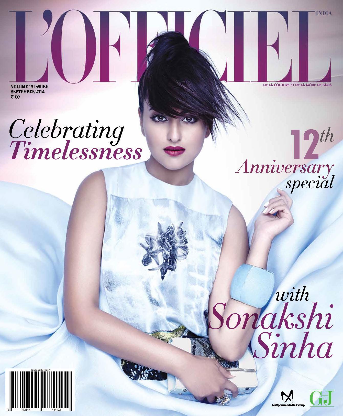 sonakshi sinha l 39 officiel magazine september 2014 photo shoot stills full set photos 25cineframes. Black Bedroom Furniture Sets. Home Design Ideas