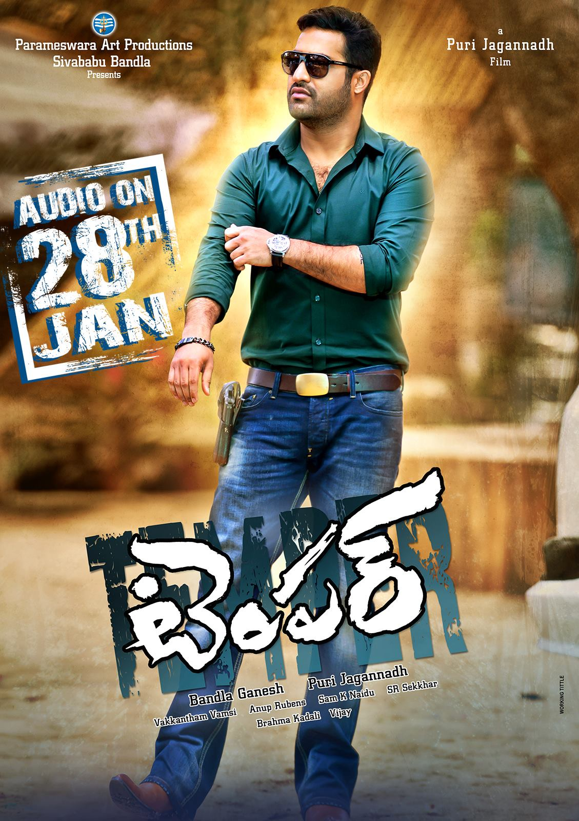 jr ntr kajal agarwal temper movie latest ultra hd posters | 25cineframes