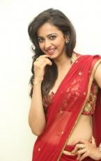 Rakul Preet Singh Hot in Red Saree Latest Photos HD Stills