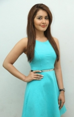 Rashi Khanna Latest Photoshoot in Sky Blue Frock Dress HD Photos