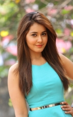 Rashi Khanna Latest HOT Photoshoot in Sky Blue Frock Dress HD Photos