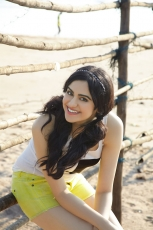 Adah Sharma New Photo Shoot HD Photos in Red and Yellow dress in Beach