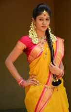 Chandini Chowdary in Yellow Saree Photos
