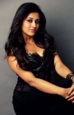 Pooja Jhaveri Latest Hot Photo Shoot Stills Photos in Black Dress
