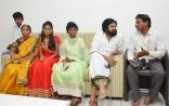 Srija and Her Family met Pawan Kalyan in his Office Photos