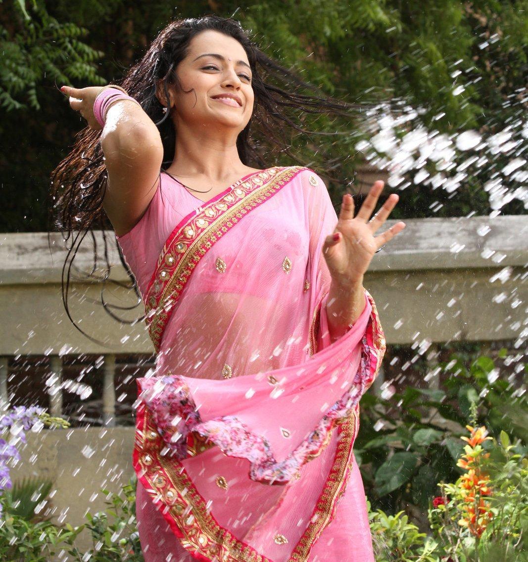 Actress Trisha Krishnan Wet Hot Ultra HD Photos In Pink