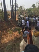Actress Pranitha Subhash Road Accident HD Photos  Exclusive