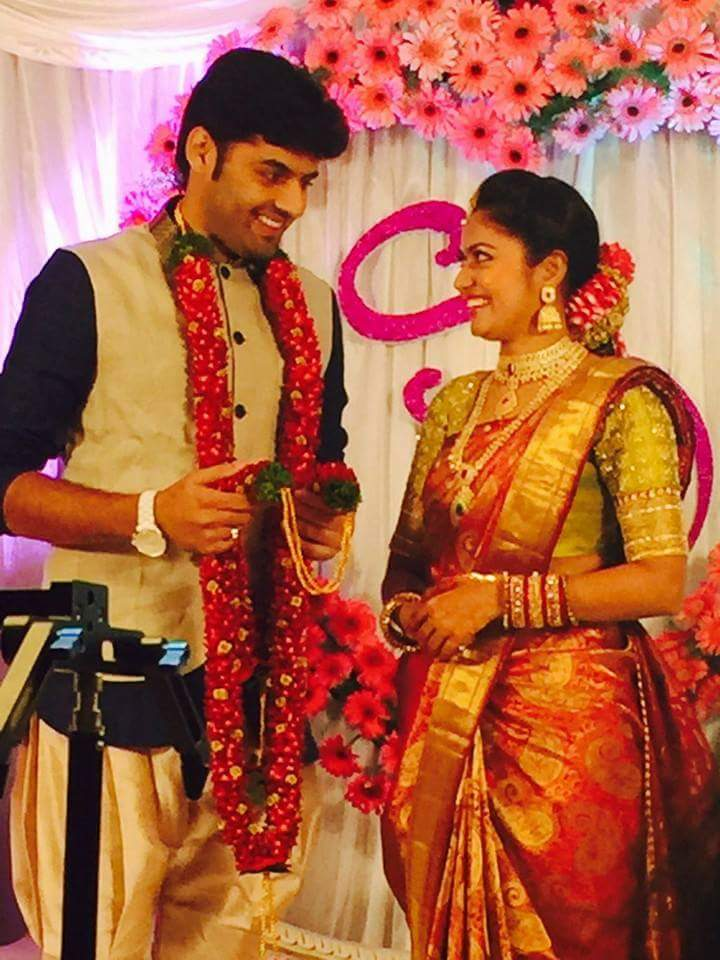 tv serial actress suhasini and actor raja engagement hd