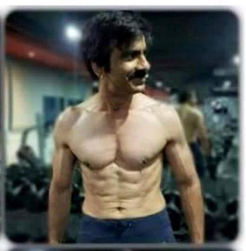 Actor Ravi Teja Six Pack Abs Photos In Gym Raviteja