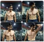 Actor Ravi Teja Six Pack ABS Photos in Gym  RaviTeja SixPack Images, Pics, Stills