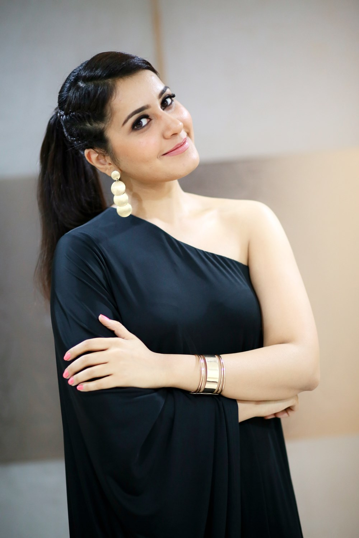 Actress Rasi Khanna Hot In Black Dress Ultra Hd Photos, Stills  Raashi Khanna Latest -8790