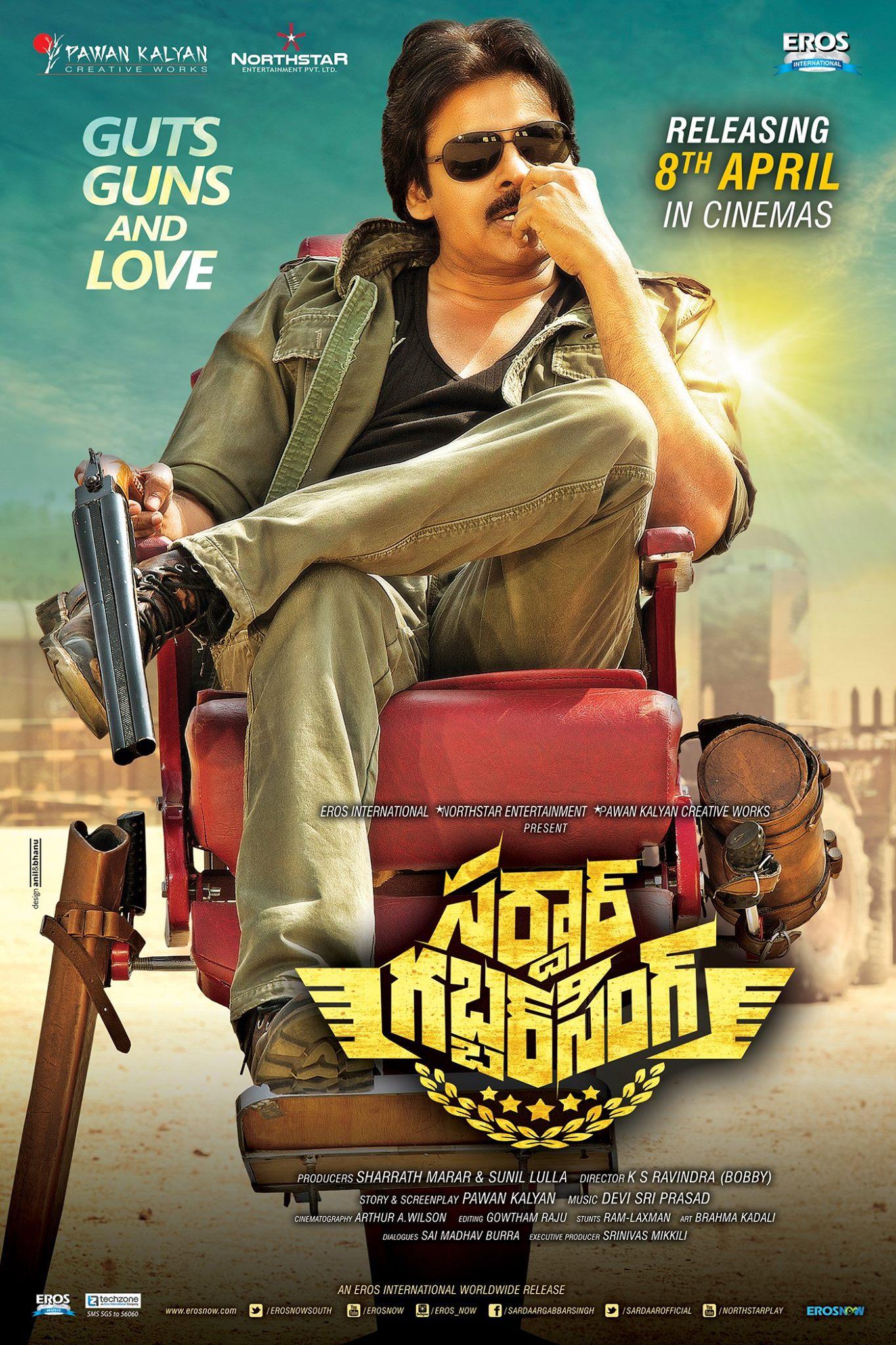 Sardar Gabbar Singh Movie Ultra Hd Posters Wallpapers Pawan Kalyan