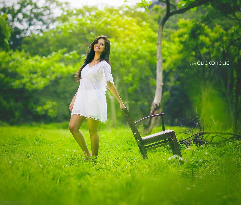 Anchor Actress Anasuya Bharadwaj Latest White Frock Dress