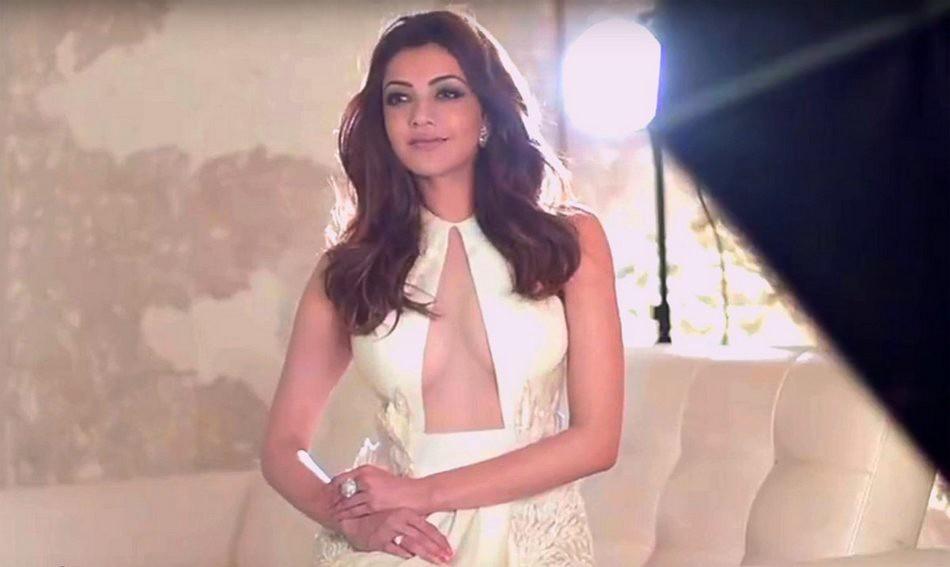 Kajal Agarwal Ultra Hd Photos For South Scope Magazine  Kajal Aggarwal Yellow Gown Dress