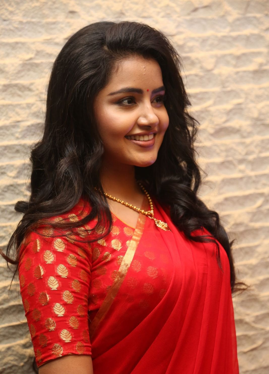 Anupama Parameswaran Hot In Red Saree Latest Photos Hd