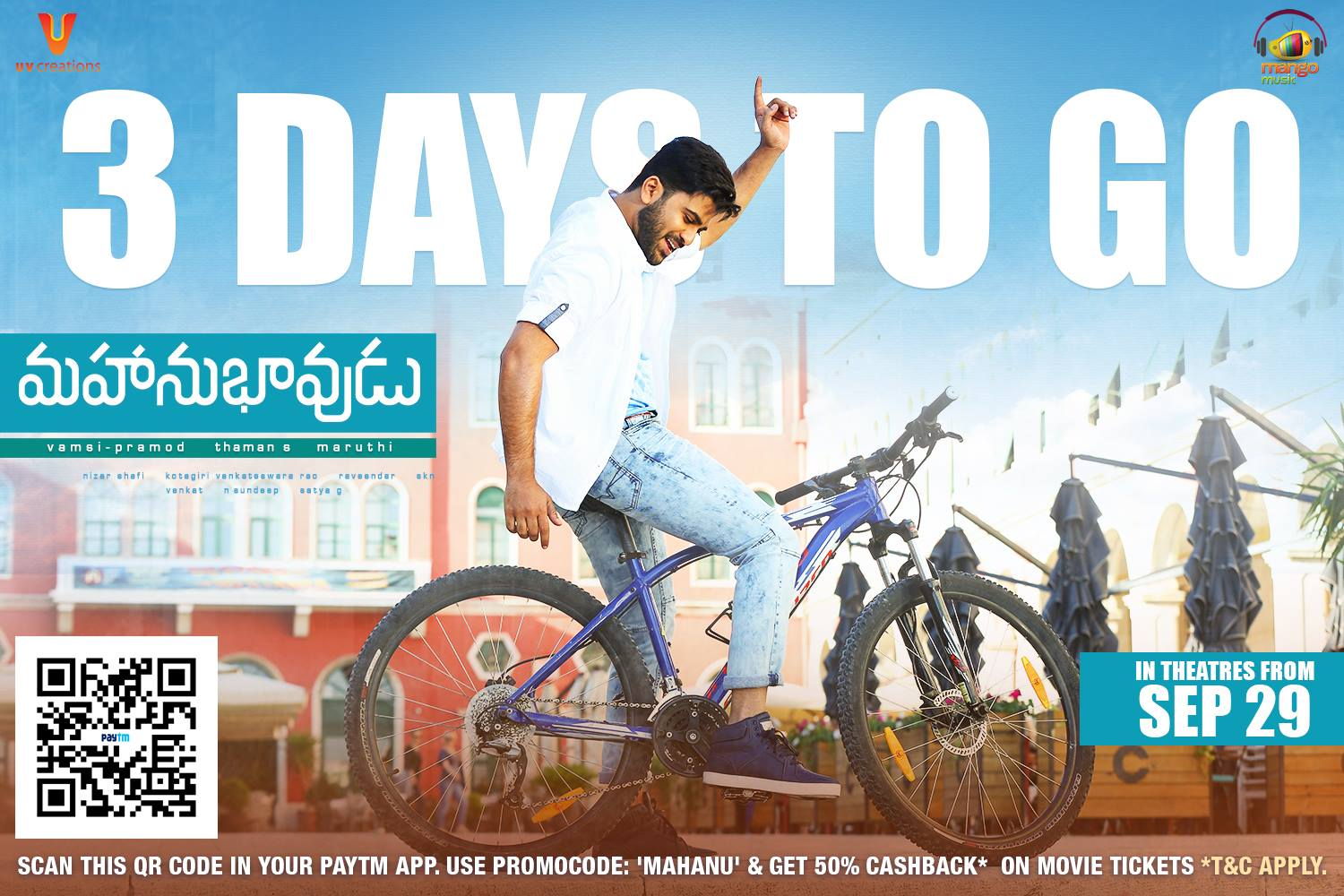 Srimanthudu Ultra Hd All Posters Wallpapers: Sharwanand Mahanubhavudu Movie First Look ULTRA HD Posters