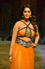 Surbhi Hot ULTRA HD Photos in Okka Kshanam Dillore Dillore Song   Surabhi Orange Dress Images Stills Gallery