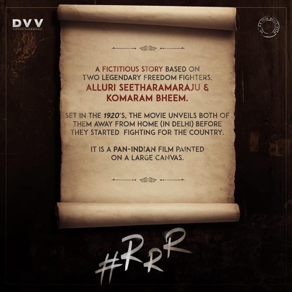 Jr NTR Ram Charan RRR Movie First Look ULTRA HD Posters