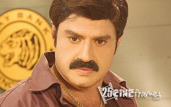Balakrishna at Train fight sequences in Legend