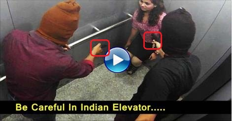 OMG Indian People Trapped With K!llers In Lift Caught On CCTV