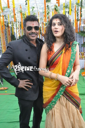 Taapsee returned to Muni 3 Shooting