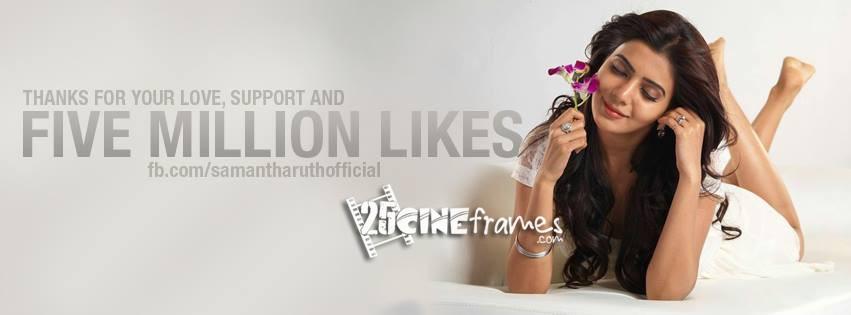 Samantha Ruth Prabhu crossed Filve million at Facebook