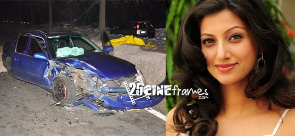 Hamsa Nandini injured in a car accident