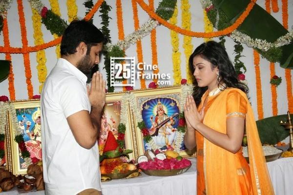 Nithin, Karunakaran movie begins