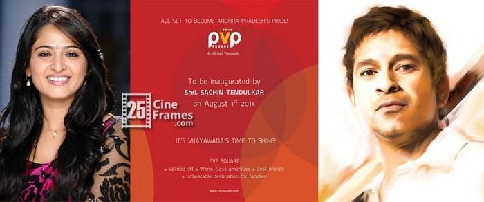 Sachin Tendulkar and Anushka Shetty to inaugurate PVP SQUARE in Vijayawada