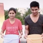 Nikhil and Swathi participate in Ice Bucket Challenge