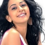 Rakul Preet Singh Rare Photoshoot Photos in White and Pink Skater Dress