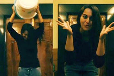Sonakshi Sinha Ice Bucket Challenge with a twist (Must Watch)
