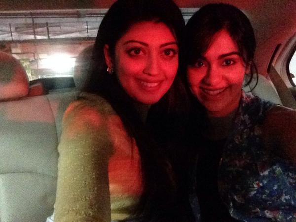 Pranitha And Adah Sharma In Red Light