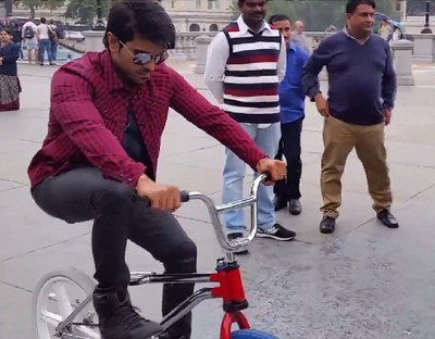 Ram Charan funny video at GAV shooting in London