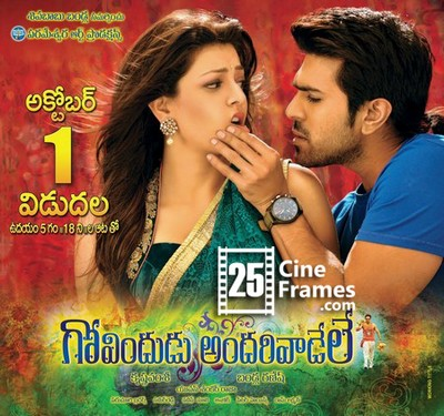 Govindudu Andarivadele 2nd day Second day World wide Collections  Area wise List