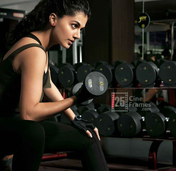 Pic Talk Taapsee Pannu Caught Working Out