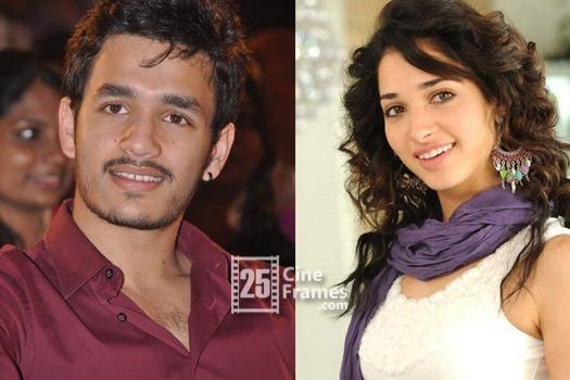 Akhil debut film with Tamnna