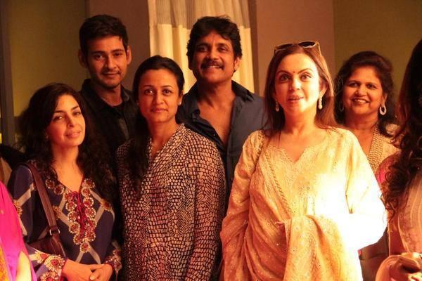 Reliance MD Neeta Ambani and Bollywood actress Juhi Chawla visited Annapurna Studios Nagarjuna Nagarjuna
