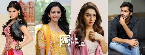 Samantha, Rakul Preet and Hansika accept Ram's challenge