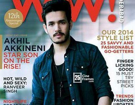 Akhil Akkineni first time on a Magazine Cover