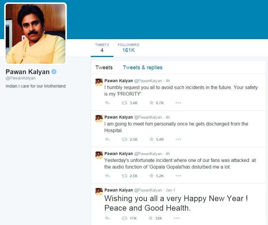 Pawan Kalyan latest Tweets on unfortunate incident