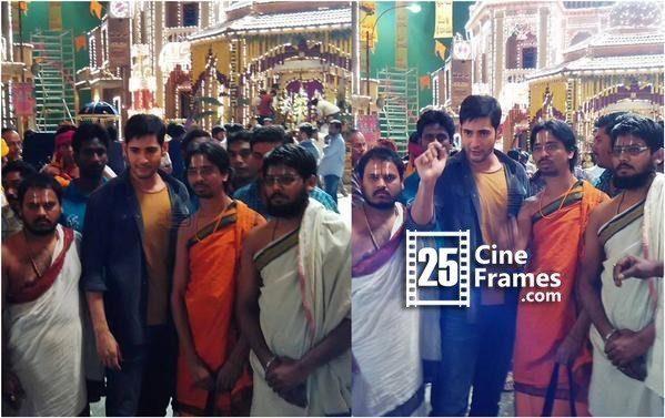 Photo Feature Mahesh Babu Questioning God in Temple in Koratala siva movie
