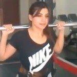 Exclusive Actress Samantha Weight Lifting Video1