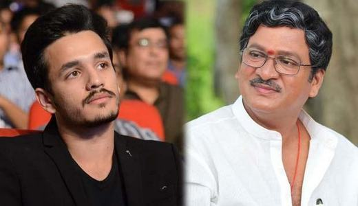 Rajendra Prasad as Akhil Akkinenis Screen Father in V V Vinayak Film