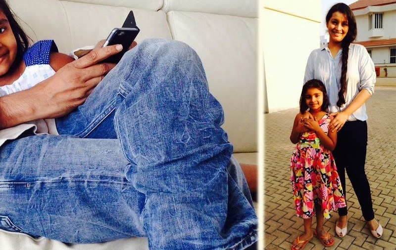 Photo Feature Pawan Kalyan With at her daughter Aadhya Birthday Celebrations