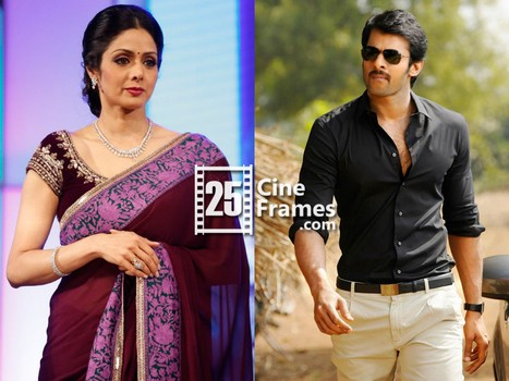 Actress Sridevi Confirmed as Prabhas's mother in UV Creations Sujeeth Project